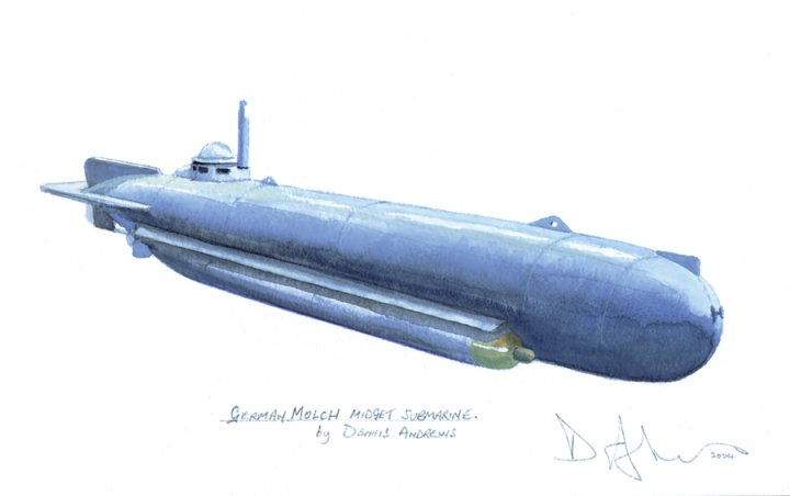 Impossible the midget molch submarine